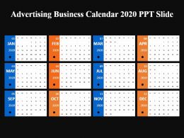 Advertising Business Calendar 2020 Ppt Slide