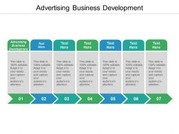 Advertising Business Development ppt Powerpoint Presentation File Slide Portrait Cpb