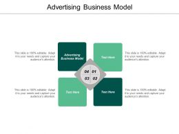 Advertising Business Model Ppt Powerpoint Presentation Diagram Images Cpb