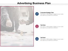 Advertising Business Plan Ppt Powerpoint Presentation Portfolio Inspiration Cpb