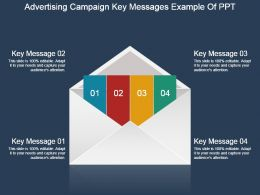 Advertising Campaign Key Messages Example Of Ppt
