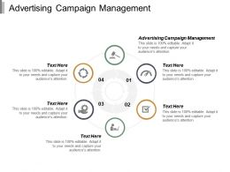 Advertising Campaign Management Ppt Powerpoint Presentation Ideas Slide Portrait Cpb