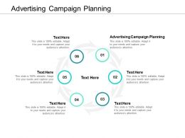 Advertising Campaign Planning Ppt Powerpoint Presentation Professional Design Cpb