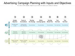 Advertising Campaign Planning With Inputs And Objectives