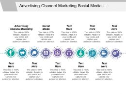 Advertising Channel Marketing Social Media Presentation Toolkit Customer Reference