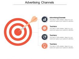 Advertising Channels Ppt Powerpoint Presentation File Elements Cpb