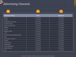 Advertising Channels Product Category Attractive Analysis Ppt Portrait