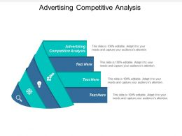 Advertising Competitive Analysis Ppt Powerpoint Presentation File Vector Cpb