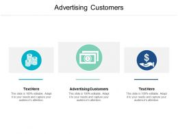 Advertising Customers Ppt Powerpoint Presentation Show Background Cpb
