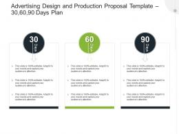 Advertising Design And Production Proposal Template 30 60 90 Days Plan Ppt Powerpoint Show