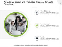 Advertising Design And Production Proposal Template Case Study Ppt Powerpoint Inspiration