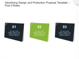 Advertising Design And Production Proposal Template Post It Notes Ppt Powerpoint Inspiration