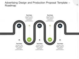 Advertising Design And Production Proposal Template Roadmap Ppt Powerpoint Presentation Styles