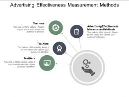 Advertising Effectiveness Measurement Methods Ppt Powerpoint Presentation File Cpb