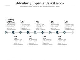 Advertising Expense Capitalization Ppt Powerpoint Presentation Outline Visuals Cpb