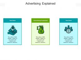 Advertising Explained Ppt Powerpoint Presentation Icon Pictures Cpb