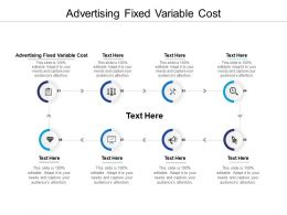 Advertising Fixed Variable Cost Ppt Powerpoint Presentation Infographic Template Pictures Cpb
