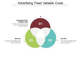Advertising Fixed Variable Costs Ppt Powerpoint Presentation Show Master Slide Cpb