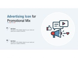 Advertising Icon For Promotional Mix
