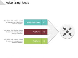 Advertising Ideas Ppt Powerpoint Presentation Diagram Lists Cpb