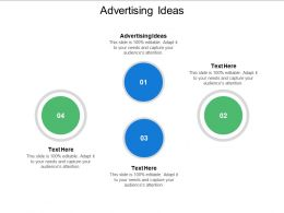 Advertising Ideas Ppt Powerpoint Presentation Show Guidelines Cpb