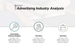 Advertising Industry Analysis Ppt Powerpoint Presentation File Example Cpb