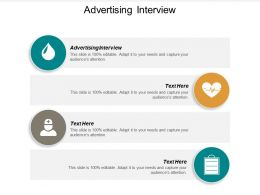 Advertising Interview Ppt Powerpoint Presentation Model Icons Cpb