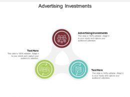 Advertising Investments Ppt Powerpoint Presentation Background Image Cpb