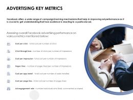 Advertising Key Metrics Engagement Ppt Powerpoint Presentation Inspiration Show