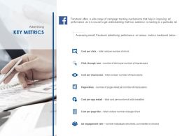 Advertising Key Metrics Ppt Powerpoint Presentation Icon Deck
