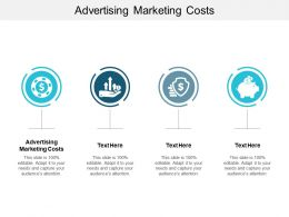 Advertising Marketing Costs Ppt Powerpoint Presentation Model Cpb