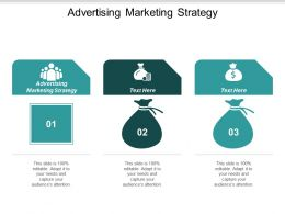 Advertising Marketing Strategy Ppt Powerpoint Presentation Pictures Layout Ideas Cpb