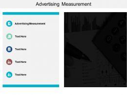 Advertising Measurement Ppt Powerpoint Presentation Diagram Ppt Cpb
