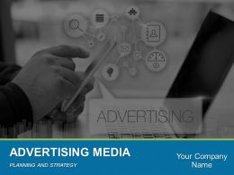 Advertising Media Planning And Strategy Powerpoint Presentation Slides