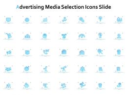 Advertising Media Selection Icons Slide Growth L863 Ppt Slides