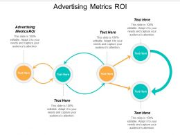 Advertising Metrics ROI Ppt Powerpoint Presentation File Smartart Cpb