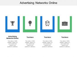 Advertising Networks Online Ppt Powerpoint Presentation File Infographics Cpb