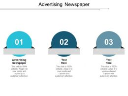 Advertising Newspaper Ppt Powerpoint Presentation File Guidelines Cpb
