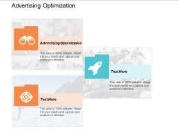 Advertising Optimization Ppt Powerpoint Presentation Slides Vector Cpb