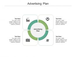 Advertising Plan Ppt Powerpoint Presentation Gallery Clipart Images Cpb