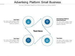 Advertising Platform Small Business Ppt Powerpoint Presentation Infographic Cpb