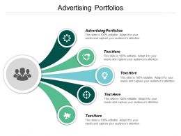 Advertising Portfolios Ppt Powerpoint Presentation Diagram Lists Cpb