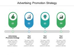 Advertising Promotion Strategy Ppt Powerpoint Presentation File Slideshow Cpb