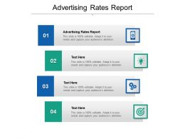 Advertising Rates Report Ppt Powerpoint Presentation Infographics Outfit Cpb