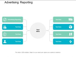 Advertising Reporting Ppt Powerpoint Presentation Portfolio Visual Aids Cpb