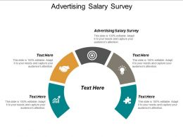 Advertising Salary Survey Ppt Powerpoint Presentation Icon Influencers Cpb