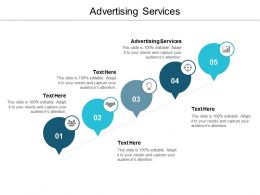 Advertising Services Ppt Powerpoint Presentation Styles Structure Cpb
