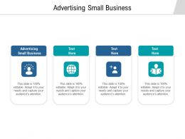 Advertising Small Business Ppt Powerpoint Presentation Layouts Picture Cpb