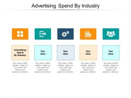 Advertising Spend By Industry Ppt Powerpoint Presentation Icon Skills Cpb