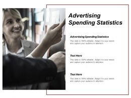 Advertising Spending Statistics Ppt Powerpoint Presentation Outline Smartart Cpb